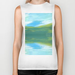 The Clearing With Reflection Biker Tank