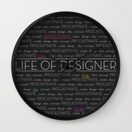 Life of designer Wall Clock