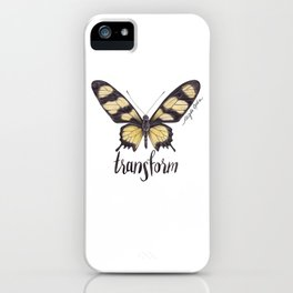Butterfly Painting | Hahnel's Amazonian Swallowtail | PARIDES HAHNELI | Nature | Animal Art iPhone Case