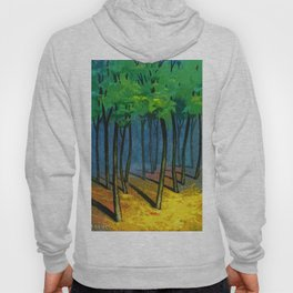 Sunset light in the forest Hoody