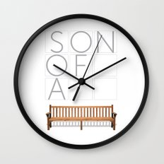 Son of a bench. Wall Clock