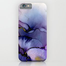 color flow purple blue magenta gold iPhone Case