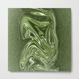 Curvaceous 4 ......flowing liquid color....original art Metal Print