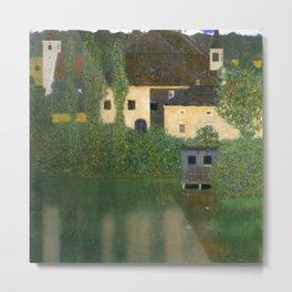 """Gustav Klimt """"Schloss Kammer on Lake Attersee I"""" Metal Print"""
