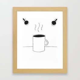 Instant Space Coffee Framed Art Print
