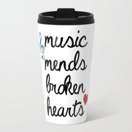 Music Mends Broken Hearts Travel Mug