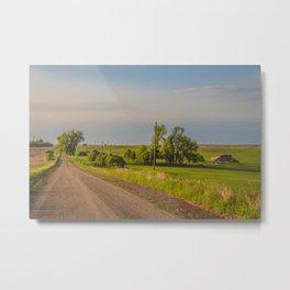 Country Road, North Dakota 23 Metal Print