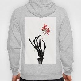 Skeleton Hand with Flower Hoody
