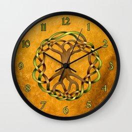 World Tree (Yggdrasil) Knot Wall Clock