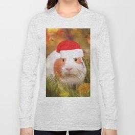 Cute Christmas Guinea Pig Long Sleeve T-shirt