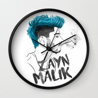 zayn Wall Clocks featuring Zayn Malik by artisticfanny