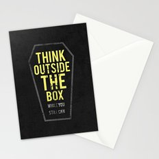 think outside the box, while you still can Stationery Cards