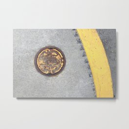 Yellow Curve Metal Print