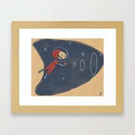 Space dude! Framed Art Print