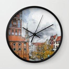 Torun city art 2 #torun #city Wall Clock