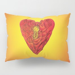 Heart Lock Abstract NeoNeoCubism Pillow Sham