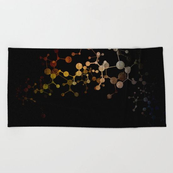 Metallic Molecule Beach Towel