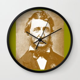 Thoreau Pillow/Thoreau Blanket/Thoreau Rug Wall Clock