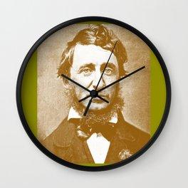 Thoreau Pillow/Thoreau Blanket/Thoreau Rug Wall Clock
