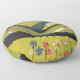 Alto Adige South Tyrol Floor Pillow