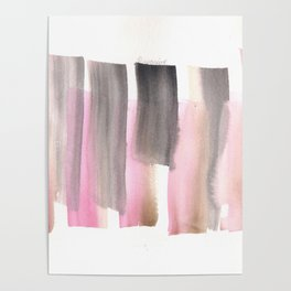 [161228] 28. Abstract Watercolour Color Study|Watercolor Brush Stroke Poster