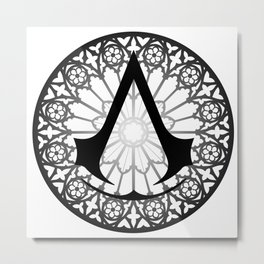 Assassin's Creed Logo Notre Dame Metal Print