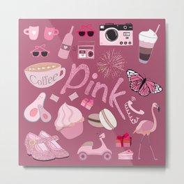 Cute Pink Stuff Metal Print