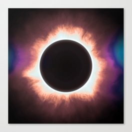 Solar Eclipse in infrared 2 Canvas Print