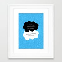 tfios Framed Art Prints featuring TFiOS Quote by royaltyblood