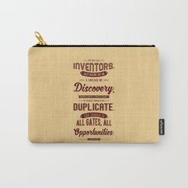 Lab No. 4 We Are All Inventors Ralph Waldo Emerson Inspirational Quote Carry-All Pouch