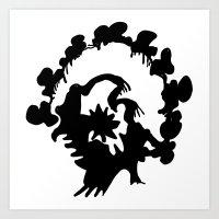 turkey Art Prints featuring Turkey by ken green art