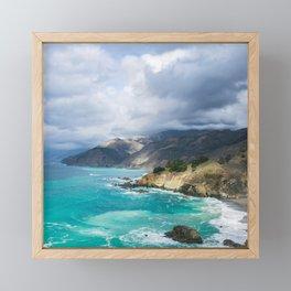 Parting Clouds in Big Sur Framed Mini Art Print