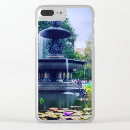 Central Park Fountain Clear iPhone Case