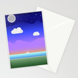 Coloured Landscape Stationery Cards