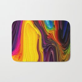Melting Pot of Colors Abstract Badematte