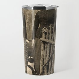 Antique Tintype Penguin Travel Mug