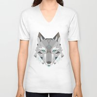 into the wild V-neck T-shirts featuring Wild by Nayla Smith