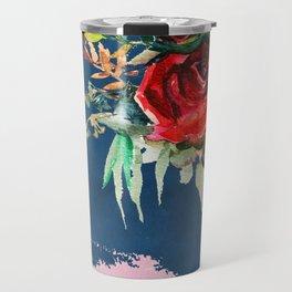 Midnight Roses Travel Mug