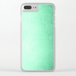 Mint Meringue Shimmer Clear iPhone Case