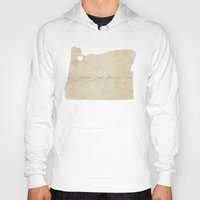 portland Hoodies featuring Portland, Oregon by Fercute