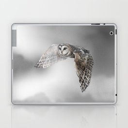 flying owl (tyto alba) Laptop & iPad Skin