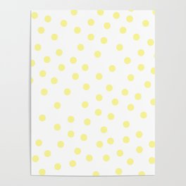 Simply Dots in Pastel Yellow Poster