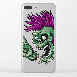Punk zombie Clear iPhone Case