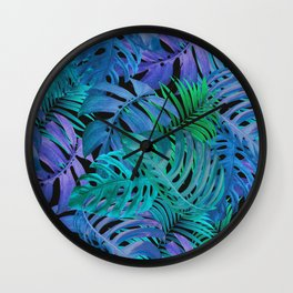 Exotic Palm Leaves 2 Wall Clock