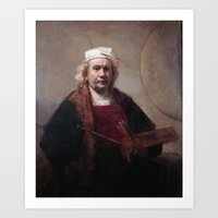 Self Portrait by Rembrandt van Rijn Art Print