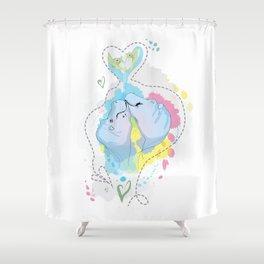 Smooches Shower Curtain