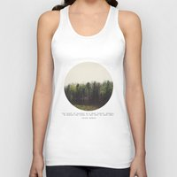 photograph Tank Tops featuring Dark Forest by Tina Crespo