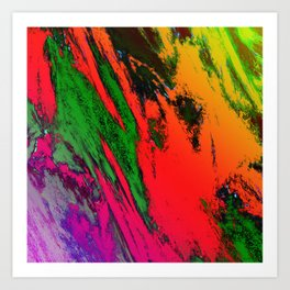 Jagged Art Print