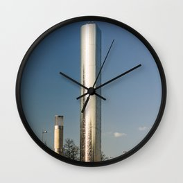 Water Tower Sculpture Cardiff Bay Wales Roald Dahl Plass Wall Clock