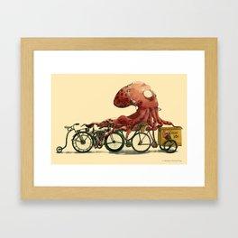 Octopus in Hurry Framed Art Print
